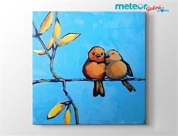 Cute Love Painting Romantik Kanvas Tablo