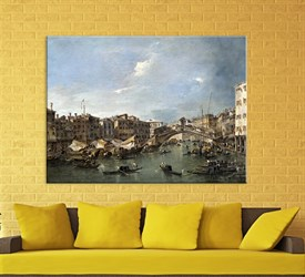 Francesco Guardi Eseri Grand Canal Kanvas Tablosu